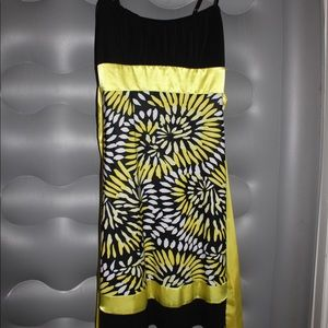 Ruby Rox Black & Yellow Short dress